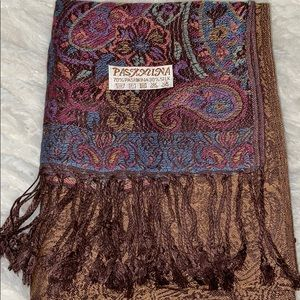Pashmina and silk scarf
